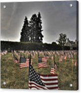 05 Flags For Fallen Soldiers Of Sep 11 Acrylic Print