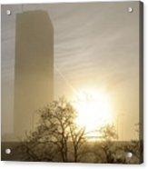 05 Foggy Sunday Sunrise Acrylic Print