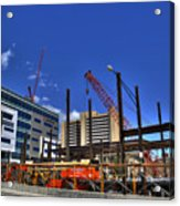 05 Medical Building Construction On Main Street Acrylic Print