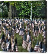 06 Flags For Fallen Soldiers Of Sep 11 Acrylic Print