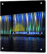 06 Grain Elevators Light Show 2015 Acrylic Print