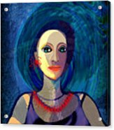066 Woman With Red Necklace Av Acrylic Print