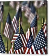 07 Flags For Fallen Soldiers Of Sep 11 Acrylic Print