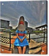 07 Shark Girl Acrylic Print