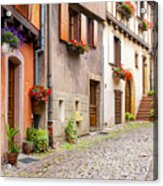 Half-timbered House Of Eguisheim, Alsace, France Acrylic Print