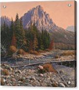 080525-1620  Fading Light On Horse Thief Creek Acrylic Print