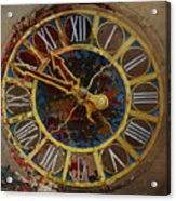 082 Tiffany Clock Acrylic Print