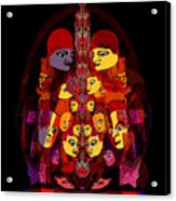 086 -  Masked People  A Acrylic Print