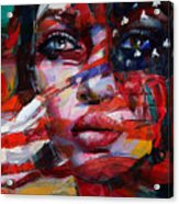 089 Flag And Eyes Acrylic Print