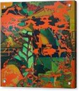 0range Garden Acrylic Print