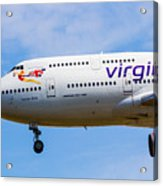 A Virgin Atlantic Boeing 747 Acrylic Print