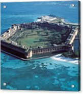 Fort Jefferson In The Gulf Of Mexico Acrylic Print