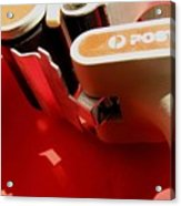 10 Objects On Red Acrylic Print
