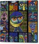 13 Faces  Acrylic Print