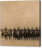 180 Degrees Panorama Troops Passing In Review No Date Or Locale Restored Color Added 2008 Acrylic Print