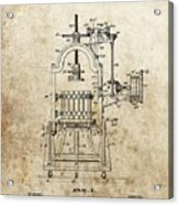 1903 Wine Press Patent Acrylic Print