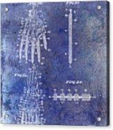 1911 Mechanical Skeleton Patent Blue Acrylic Print