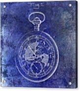 1916 Pocket Watch Patent Blueprint Acrylic Print