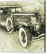 1928 Duesenberg Model J 3 - Automotive Art - Car Posters Acrylic Print