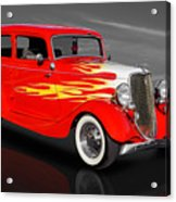 1933 Ford Sedan - 33fdtudorsed Acrylic Print