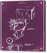 1936 Toilet Bowl Patent Chalk Acrylic Print