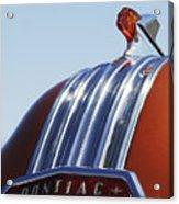1952 Pontiac Tin Woodie Wagon Hood Ornament Acrylic Print