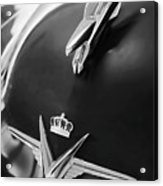 1954 Chrysler Imperial Sedan Hood Ornament 3 Acrylic Print