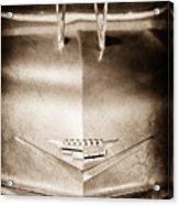 1956 Cadillac Eldorado Biarritz Convertible Hood Ornament - Emblem Acrylic Print