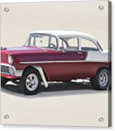 1956 Chevrolet 210 Coupe 'gasser Style' Acrylic Print