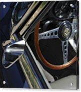 1963 Jaguar Xke Roadster Steering Wheel Acrylic Print