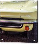 1965 Yellow Sting Ray Front Bumper Acrylic Print
