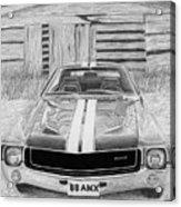 1968 Amc Amx Javelin Muscle Car Art Print Acrylic Print