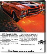 1970 Chevrolet Chevelle Ss 396 Acrylic Print