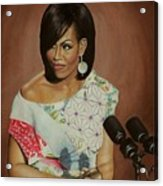 1st Lady Michelle Obama Acrylic Print