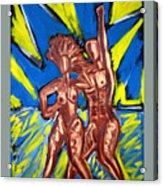 2 Nude Dancers Acrylic Print
