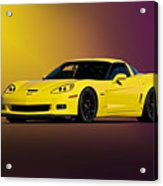 2008 Corvette Z06 Coupe Acrylic Print