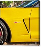 2013 Chevrolet Corvette Zo6 Painted Bw  Acrylic Print