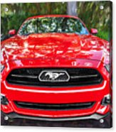 2014 Ford Mustang Gt Painted  Acrylic Print