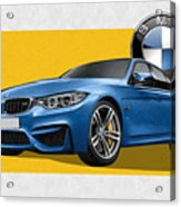2016  B M W  M 3  Sedan With 3 D Badge  Acrylic Print