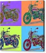 2016 Moto Guzzi V7ii Stornello - Warhol Style Acrylic Print