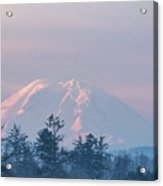 2018_3_17  Sunrise Mt. Rainier-6233  Acrylic Print