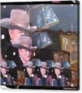 21 Dukes John Wayne Cardboard Cutout Collage Tombstone Arizona 2004-2009 Acrylic Print