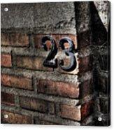 23 Acrylic Print