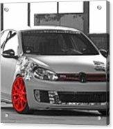 246062 Car Golf Gti Volkswagen Golf Vi Wheels Acrylic Print