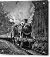 3802 Mince Pie Special On The Llangollen Line. Acrylic Print