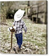 A Boy And His Horse Acrylic Print