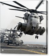 A Ch-53e Super Stallion Lifts Acrylic Print by Stocktrek Images