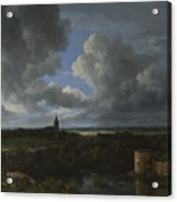 A Landscape With A Ruined Castle And A Church Acrylic Print