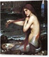 A Mermaid John William Waterhouse Acrylic Print