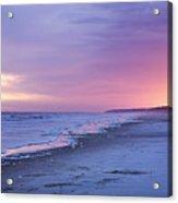 A Night On The Beach Begins Acrylic Print